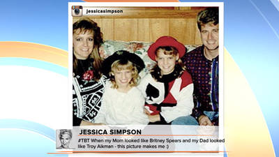 News video: Jessica Simpson: My mom looked like Britney Spears